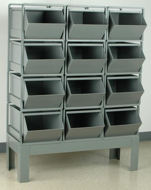 12 stackbin bin rack 3 wide