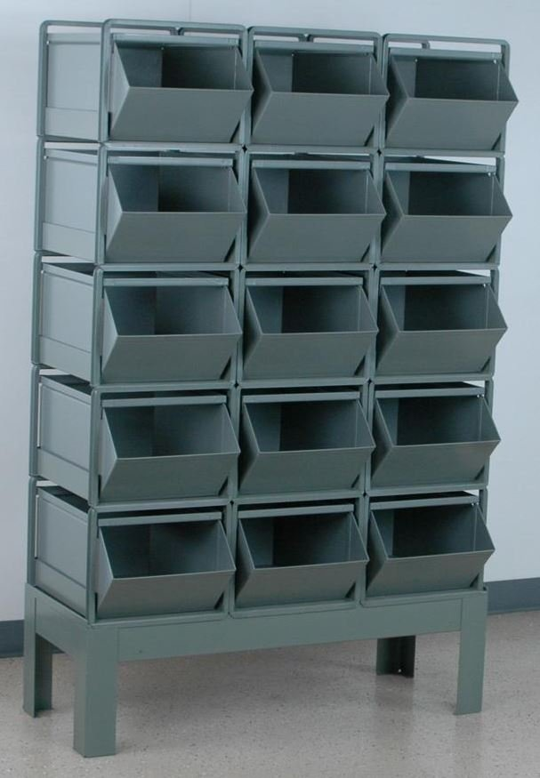 15 stackbin bin rack 3 wide