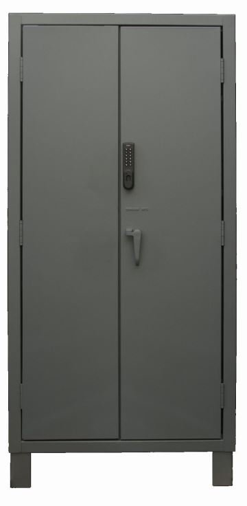 36 in wide electronic access cabinet solid door