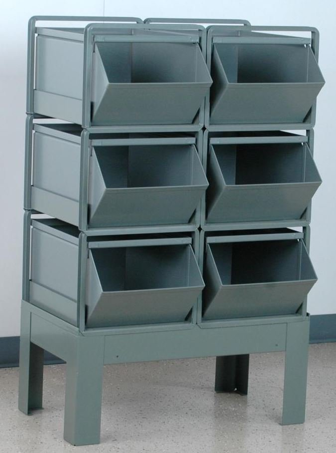 6 stackbin bin rack 2 wide