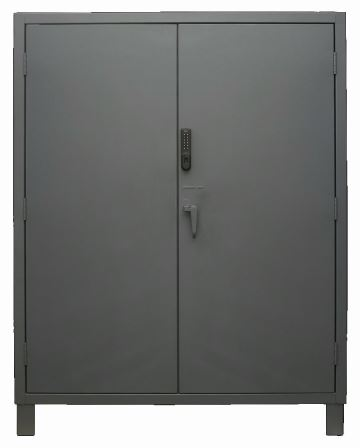 60 in wide electronic access cabinet solid door