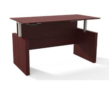 72 inch straight height desk