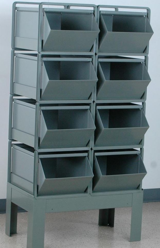 8 stackbin bin rack 2 wide