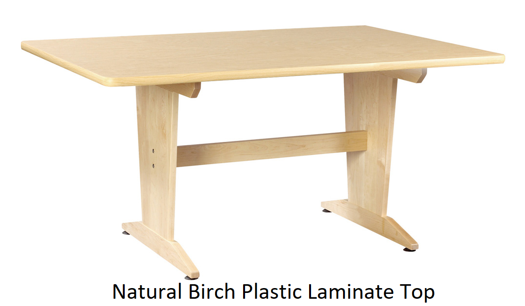 Birch plastic laminate planning table