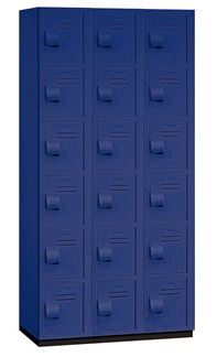HEAVY DUTY SIX TIER PLASTIC LOCKERS