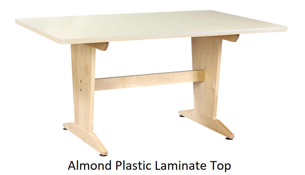 almond plastic laminate planning table