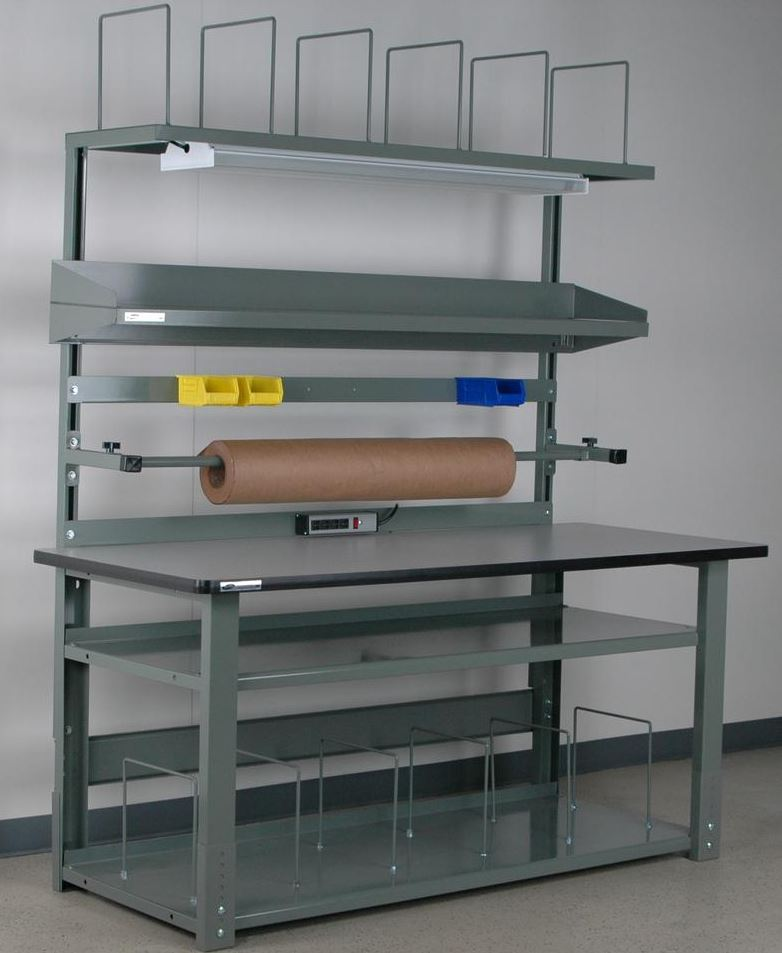 alpha packing bench laminated top