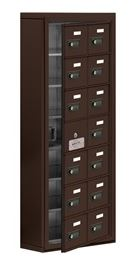 cellphone locker with access panel 2 col wide bronze