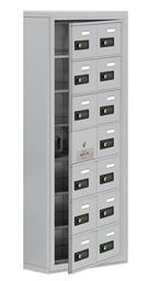 cellphone locker with access panel 2 col wide
