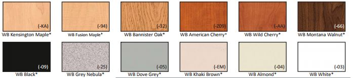 color chart standard wisconsin bench