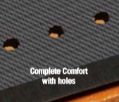 complete comfort anti fatigue mats holes