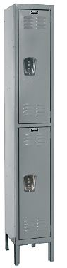 dark gray double tier locker