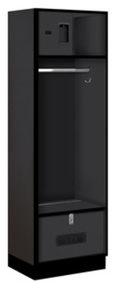 designer open locker black