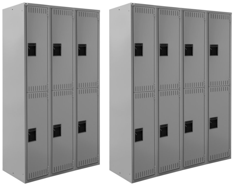 doublt tier three and four wide lockers