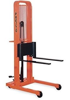 foot operated stacker forks