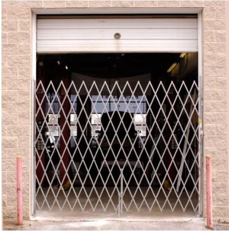 galvanized single dock security door