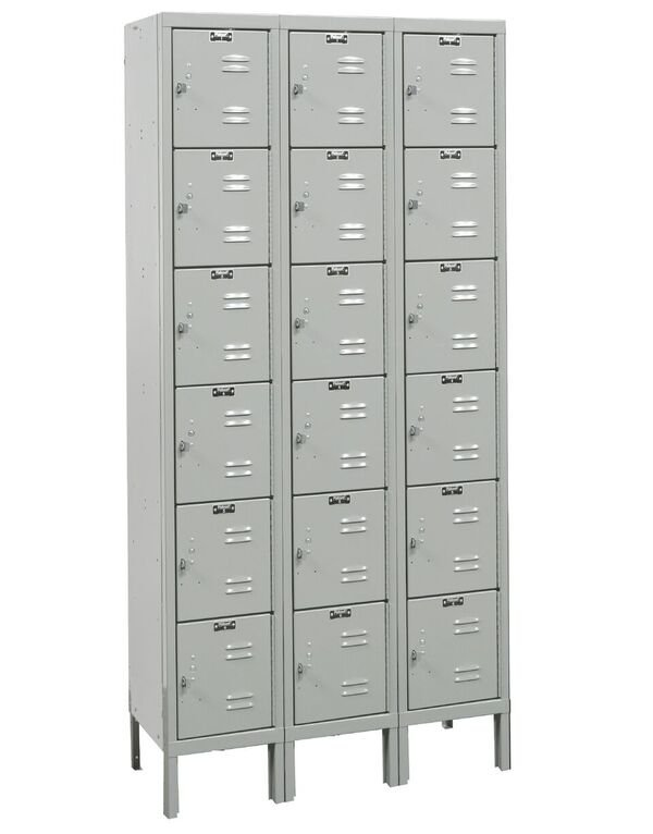 light gray box locker