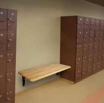 locker bench seat wall bracket