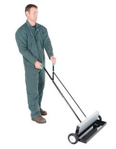 magnetic sweeper in use