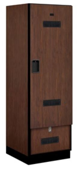mahogany closed locker