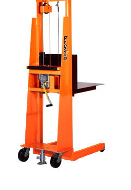 mechanical hand crank stacker