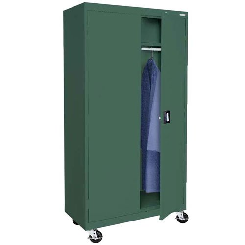 mobile wardrobe cabinet with casters