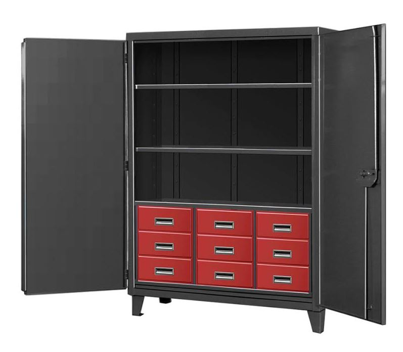 nine drawer black tie cabinet
