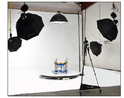 photo shoot power turntable in studio