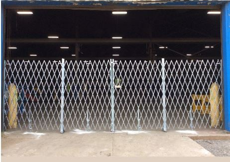 really big galvanized gate