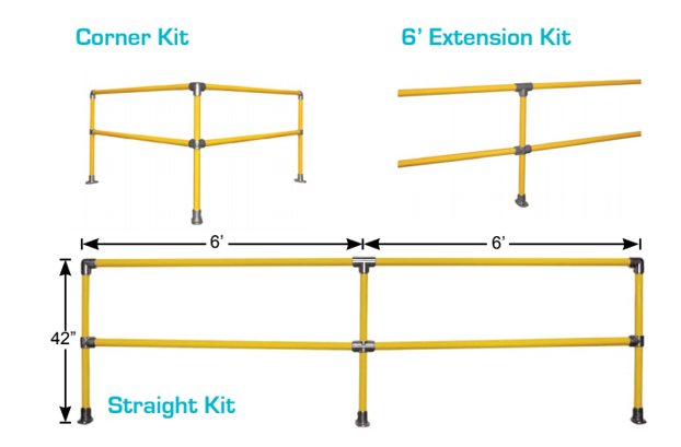 safety railing kit variations