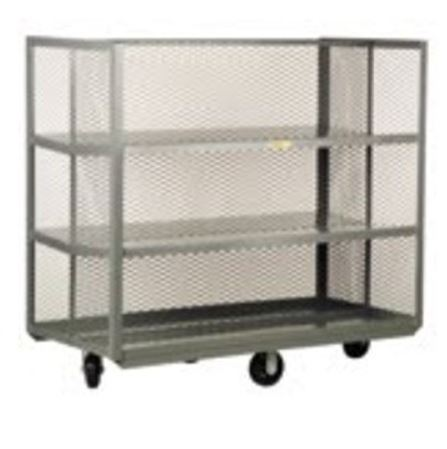 shelf truck with sloped shelves