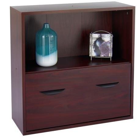 shelf with file drawer