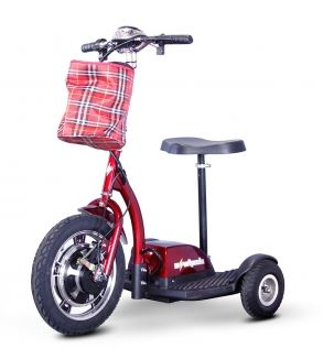 sit stand scooter red