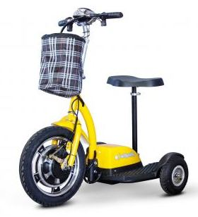 sit stand scooter yellow
