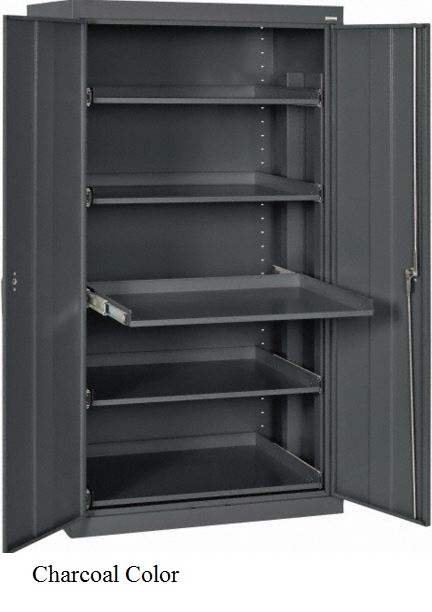 slide out shelf storage cabinet charcoal