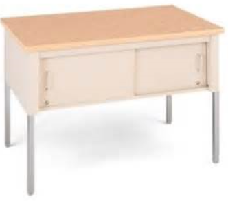 standard table with sliding doors 60
