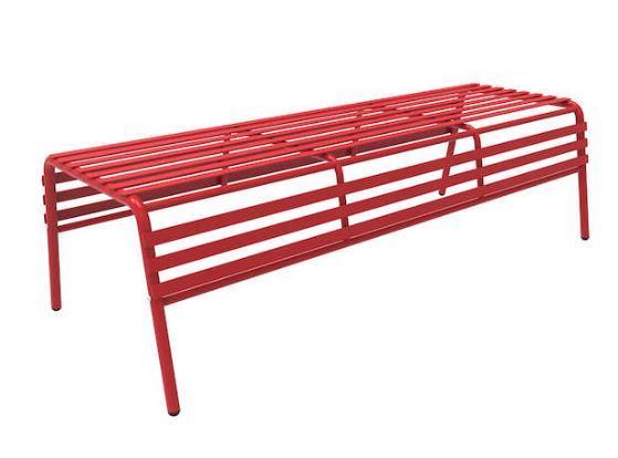 steel bench red
