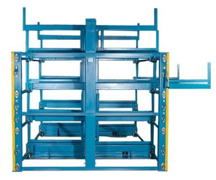 stow away cantilever rack side view