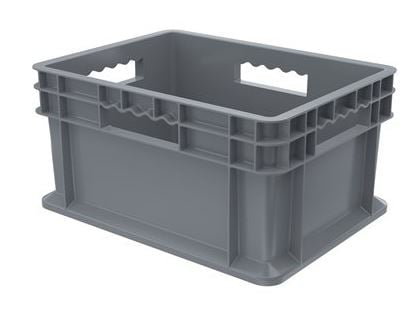 straight wall container solid sides solid base
