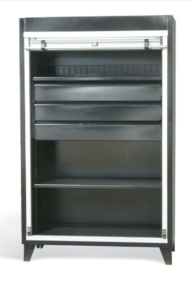 strong hold roll up cabinet with drawers