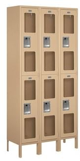tan seethrough locker