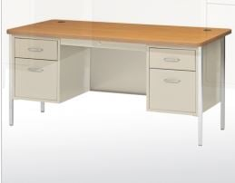 teachers desk double pedestal