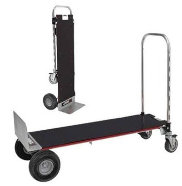 the two in one hand and platform truck jumbo size