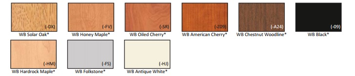 thermal fused laminate colors