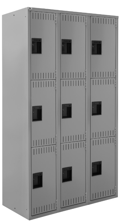 triple tier theee wide lockers