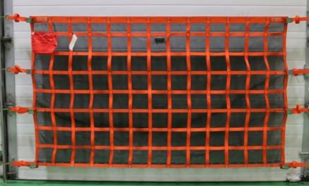 wall mounted safety net with liner