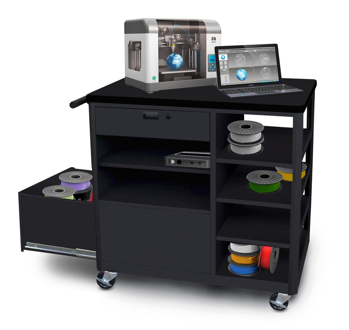 Computer desk with locking drawer home office furniture