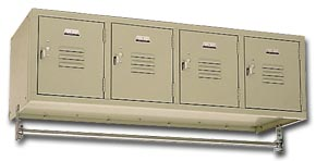 Penco Wall Mounted Locker With Coat Rod