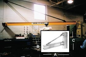 Wall Bracket Tie Rod Jib Crane