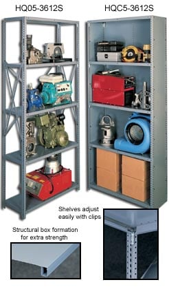 Tennsco Q Line Industrial Shelving